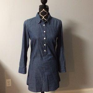J.CREW Denim Tunic Dress Size 6